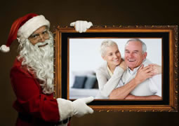 Santa Claus brings you a fun photo collage as gift