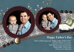 Father's Day greeting card template