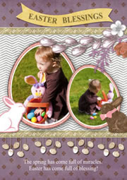 Easter Day greeting card template