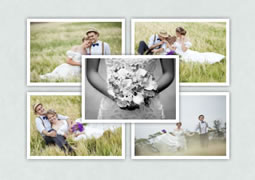 center wedding collage template