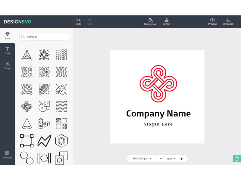 DesignEvo allows everyone to create custom logos for free, no professional design skills needed. With millions of icons, 100+ fonts, and the super simple WYSIWYG editor, you can create a logo that best matches your brand with only a few clicks.