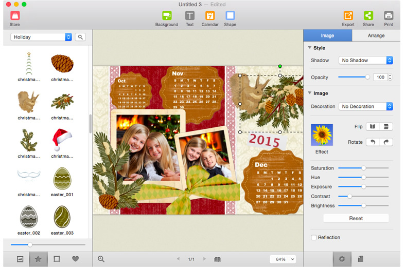 Picture Collage Maker for Mac is a powerful, versatile way to build any photo collage and scrapbook project.
