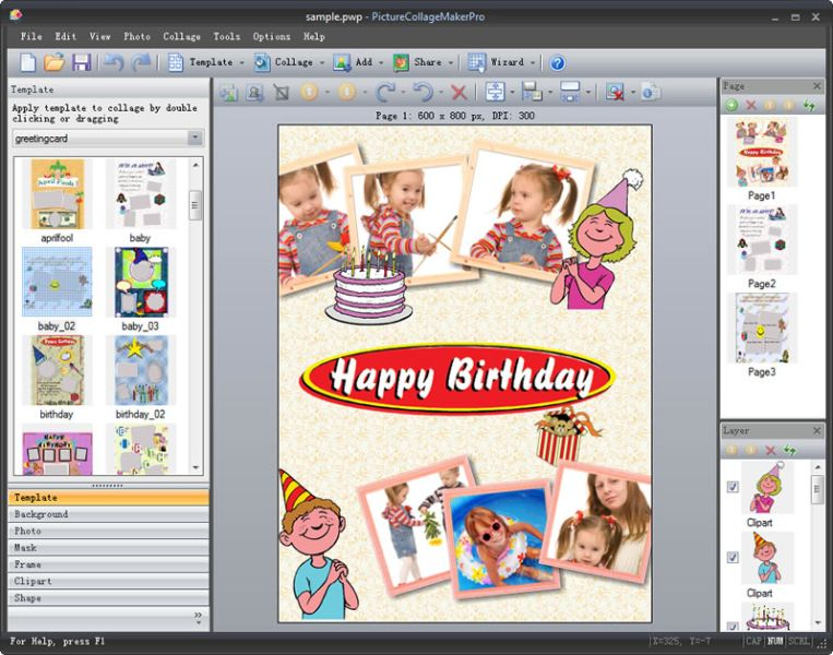 Picture Collage Maker Pro 4.1.4.1 Screen shot